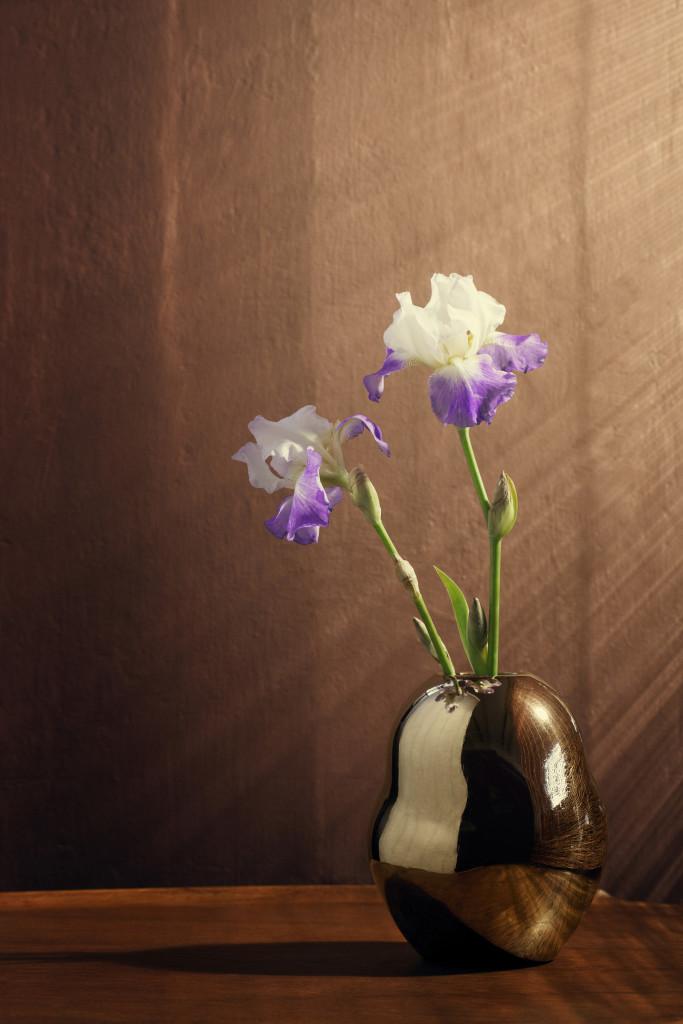 Fiora golden vase H200
