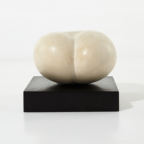 White glazed sculpture