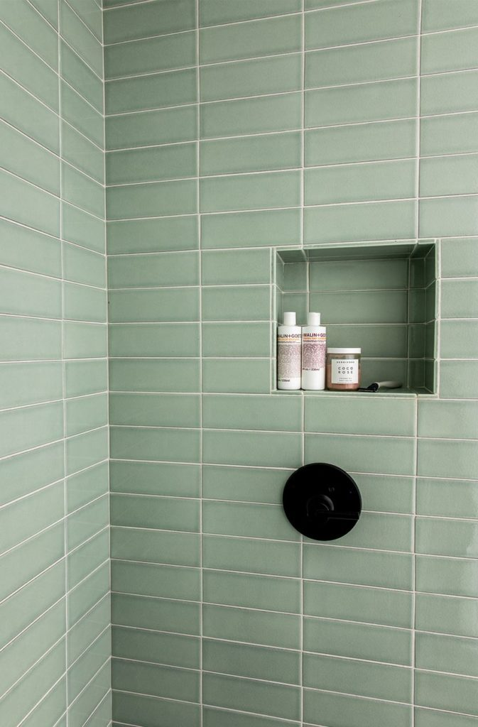 The green bathroom is a thing on Pinterest
