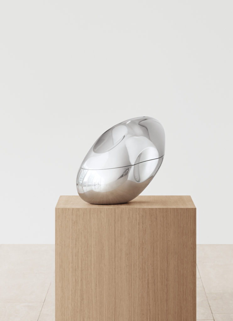 """Georg jensen participated in the Wallpaper* Handmade exhibition """"With Love"""" during Milan Design Week 2019. Georg Jensen partnered with Elmgreen Dragset and create a unique and life pausing object. The Bed"""