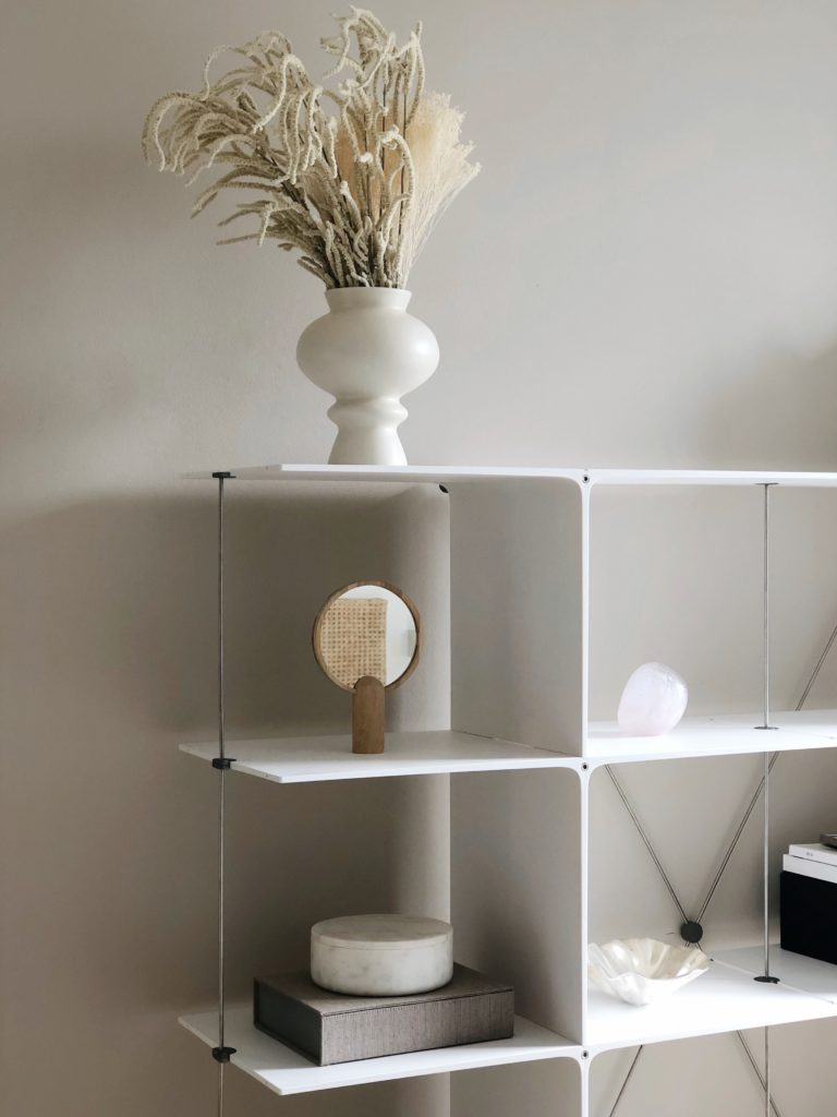 There are many storage solutions out there but not many that are sustainable designed and that can fit into your life and needs, as they change. POISE is a shelfing system that with never-ending possibilities. If you suddenly don't need it in one room, you can make it smaller or bigger to fit into another room.  It is also made from 70% recycled materials, which I think is pretty amazing. I am all for using those resources and materials and  that we have already made.